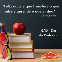 15/10- Dia do Professor